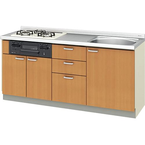 メーカー直送 リクシル 取り替えキッチン パッとりくん GKシリーズ フロアユニット [GK*-U-175XNBC**] 間口175cm ラウンド56シンク 受注生産品