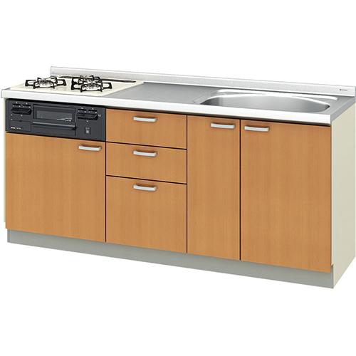 メーカー直送 リクシル 取り替えキッチン パッとりくん GKシリーズ フロアユニット [GK*-U-180SNBC**] 間口180cm ラウンド68シンク