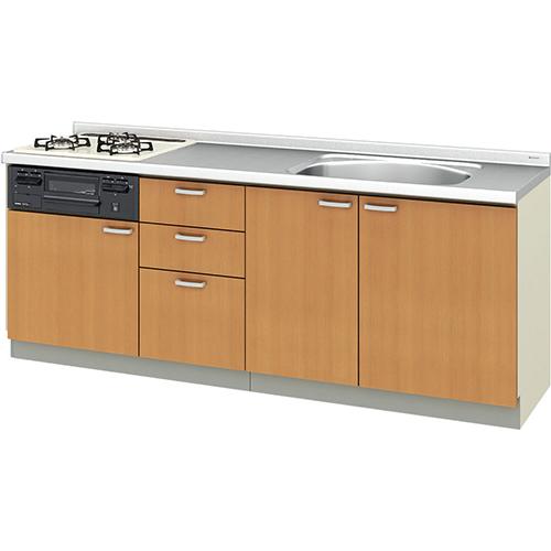 メーカー直送 リクシル 取り替えキッチン パッとりくん GKシリーズ フロアユニット [GK*-U-210SNBC**] 間口210cm ラウンド68シンク