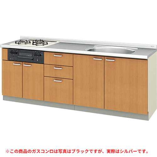メーカー直送 リクシル 取り替えキッチン パッとりくん GKシリーズ フロアユニット [GK*-U-220SNBD**] 間口220cm ラウンド68シンク