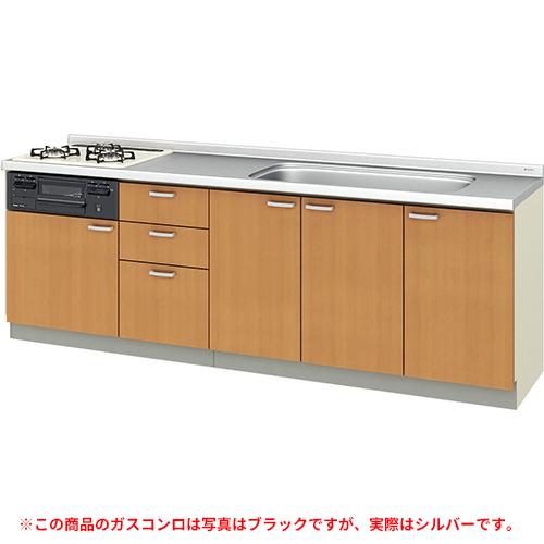 メーカー直送 リクシル 取り替えキッチン パッとりくん GKシリーズ フロアユニット [GK*-U-240SNBD**] 間口240cm ラウンド68シンク 受注生産品