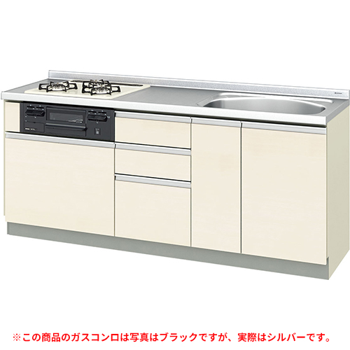 メーカー直送 リクシル 取り替えキッチン パッとりくん GXシリーズ フロアユニット [GX*-U-190SNAD**] 間口190cm ラウンド68シンク