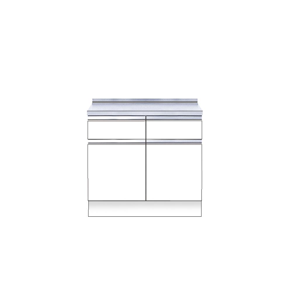 メーカー直送 送料無料受注生産品 マイセット キッチン 単体キッチン 深型 調理台 S2 間口60cm[S2-60T**]【MYSET】 エリア限定 キャンセル不可 道幅4m未満配送不可