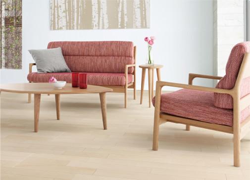 【法人様限定】 メーカー直送 イクタ 床材 銘木フロアーラスティック [AW-MR3] ハードメープル 3Pタイプ 床暖房対応品 捨貼り工法専用 ツヤなし