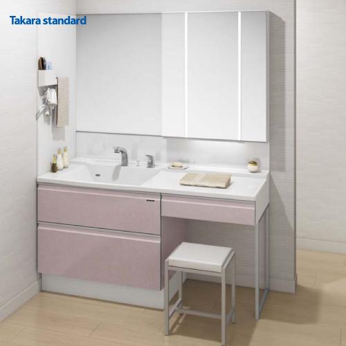 タカラスタンダード 洗面化粧台プラン エリーナ ミラー+洗面下台+オプション くもり止めコーティング 間口150cm 受注品