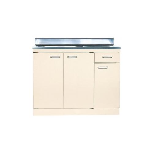 【法人様限定】 メーカー直送 ライフ セクショナルキッチン Oタイプ [ON-90(R/L)] 流し台左右水槽有り 幅900 奥行550 扉色アイボリーのみ