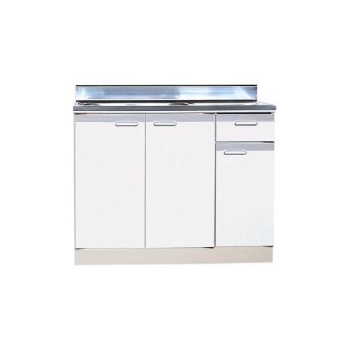 【法人様限定】 メーカー直送 ライフ セクショナルキッチン RAタイプ [RRAN-90□□(R/L)] 流し台左右水槽有り 幅900 奥行460