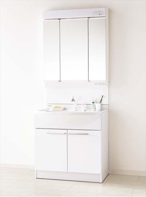 パナソニック 洗面化粧台 エムライン [GQM75KECW+GQM075DSCAT] 幅750mm くもりシャットあり エコカチットあり 止水栓別途