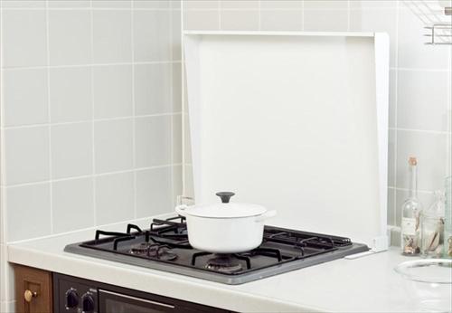 池永鉄工 キッチンアイテム コンロカバー スチール 75cm用 ホワイト [ikenagaIK2-75W] LIVLIV コンロ蓋