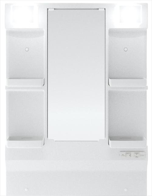 メーカー直送 ハウステック 洗面化粧台 QVシリーズ [QVM-L750LMH] 一面鏡・低天井対応・LED照明 幅750mm  ヒーター付 ミラーのみ