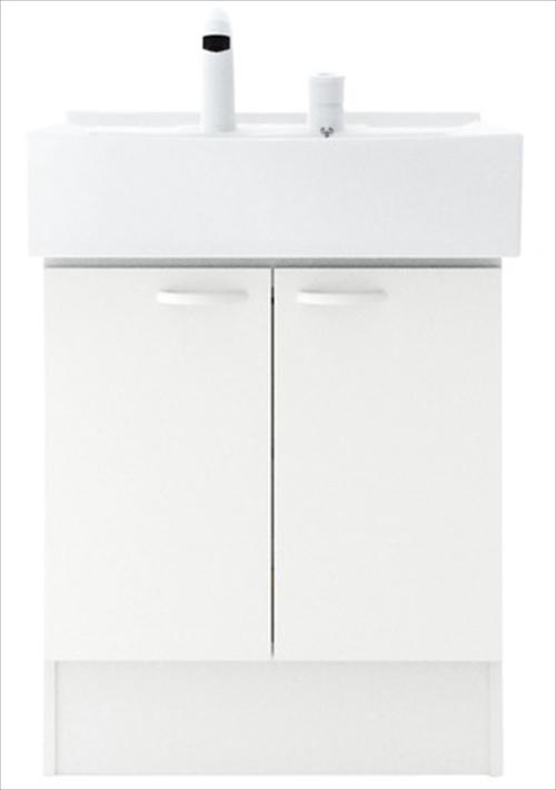 メーカー直送 ハウステック 洗面化粧台 QVシリーズ [QV3-600NCT] 洗面台 幅600mm 開き扉 下台のみ(ミラー、水栓別売)