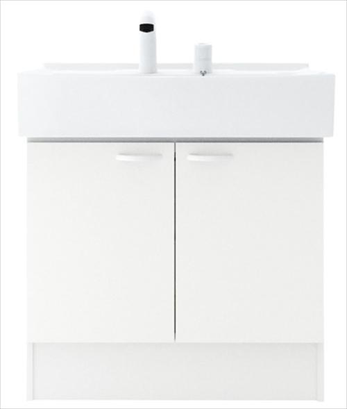 メーカー直送 ハウステック 洗面化粧台 QVシリーズ [QV3-750NCT] 洗面台 幅750mm 開き扉 下台のみ(ミラー、水栓別売)