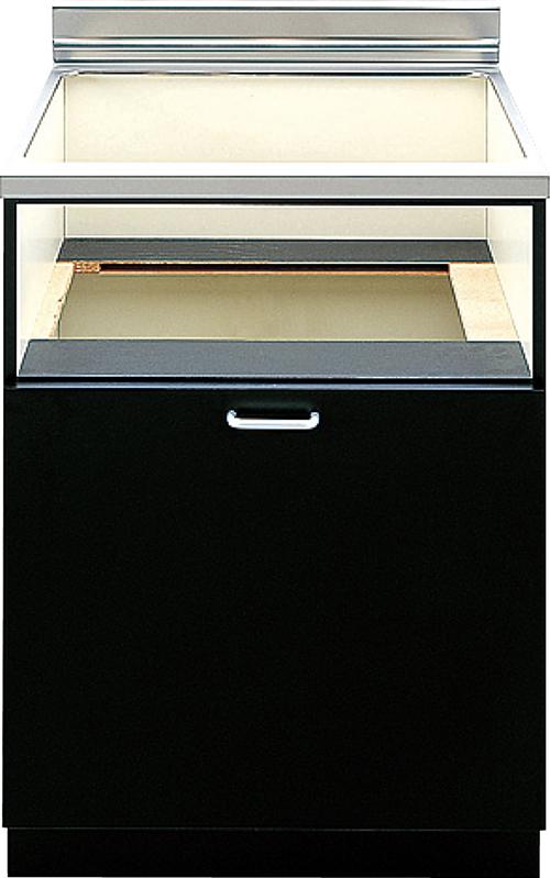 送料無料 パロマ [PDC-610SB-1] キャビネット ブラック スライド扉 Paloma