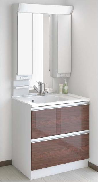 メーカー直送 アサヒ衛陶 洗面化粧台 [LLA101*] レスタ 間口750mm 樹脂製一体型カウンタータイプ