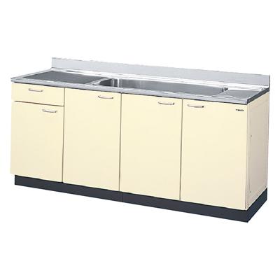 メーカー直送品 LIXIL リクシル セクショナルキッチン HRシリーズ 流し台 間口180cm(ジャンボシンク)[HR(I・H)2S-180JB(R・L)]1段引出し