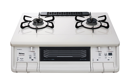 送料無料 パロマ [PA-360WHA-L(LP)] テーブルコンロ LPG プロパンガス 左強火力 エブリシェフシリーズ やさしい白 水なし両面焼グリル 温度調節機能付き 煮物機能 幅59cmプラチナカラートップ