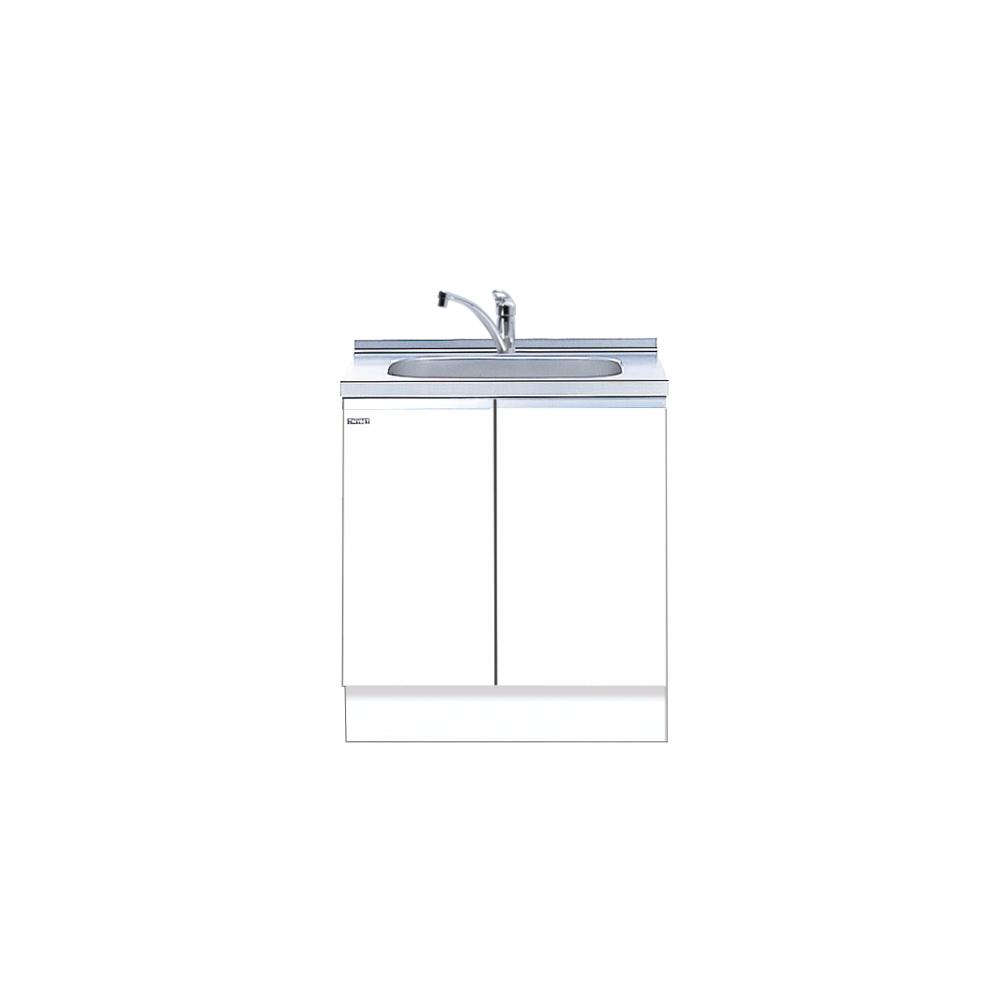 メーカー直送 送料無料受注生産品 マイセット キッチン 単体キッチン 深型組合わせ流し台 S2 トップ出し水栓仕様 間口75cm[S2-75DS***]【MYSET】 エリア限定 キャンセル不可 道幅4m未満配送不可
