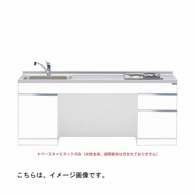 メーカー直送 送料無料 【マイセット】キッチン 単体キッチン ベースキャビネット 調理器具付セット M6 間口180cm[M6-180DSAIW**]【MYSET】 道幅4m未満配送不可
