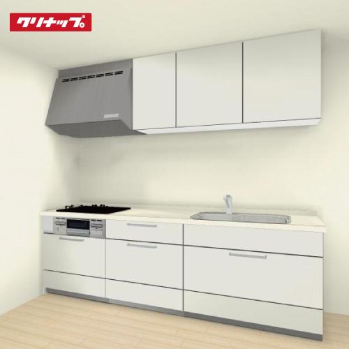 クリナップ STEDIA(ステディア) システムキッチンプラン W255×85cm×D65cm I型 扉柄class5シリーズ スエードホワイト