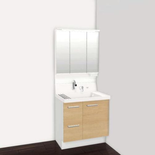 メーカー直送 リクシル 洗面化粧台 ピアラ 間口750mm [AR3H-755SY+MAJX2-753TZJU] 寸法:750×540×1850