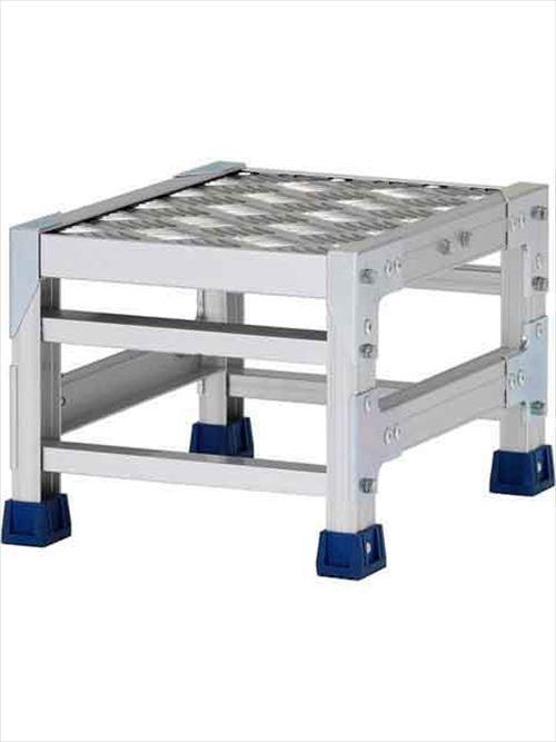 メーカー直送【法人様限定】 アルインコ(ALINCO)作業台 ステンレス金具仕様作業台(天板縞板タイプ)1段天板高さ250mm [CMT-123S]  送料別途見積り