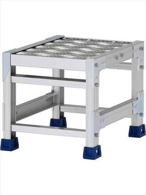 メーカー直送【法人様限定】 アルインコ(ALINCO)作業台 ステンレス金具仕様作業台(天板縞板タイプ)1段天板高さ300mm [CMT-133S]  送料別途見積り