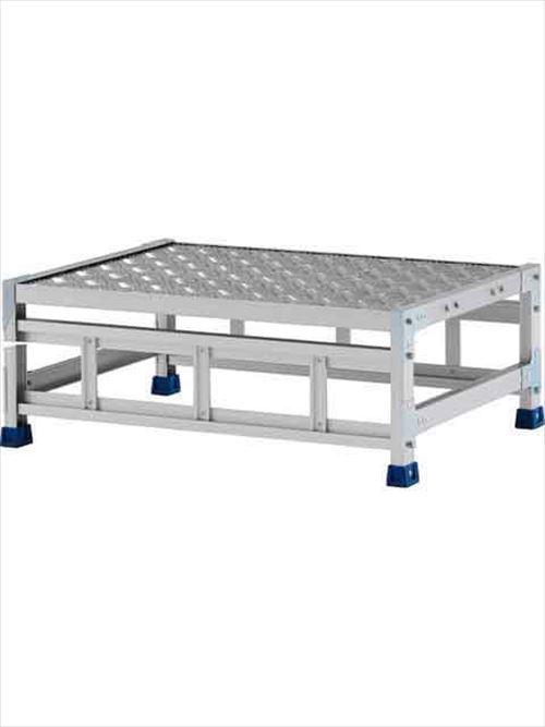 メーカー直送【法人様限定】 アルインコ(ALINCO)作業台 ステンレス金具仕様作業台(天板縞板タイプ)1段天板高さ300mm [CMT-138WS]  送料別途見積り