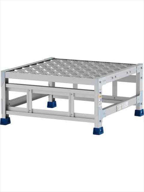 メーカー直送【法人様限定】 アルインコ(ALINCO)作業台 ステンレス金具仕様作業台(天板縞板タイプ)1段天板高さ300mm [CMT-13WS]  送料別途見積り