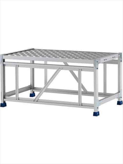 メーカー直送【法人様限定】 アルインコ(ALINCO)作業台 ステンレス金具仕様作業台(天板縞板タイプ)1段天板高さ500mm [CMT-151WS]  送料別途見積り