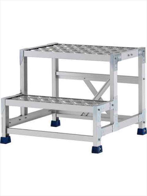 メーカー直送【法人様限定】 アルインコ(ALINCO)作業台 ステンレス金具仕様作業台(天板縞板タイプ)2段天板高さ500mm [CMT-256S]  送料別途見積り