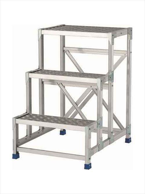 メーカー直送【法人様限定】 アルインコ(ALINCO)作業台 ステンレス金具仕様作業台(天板縞板タイプ)3段天板高さ900mm [CMT-396S]  送料別途見積り