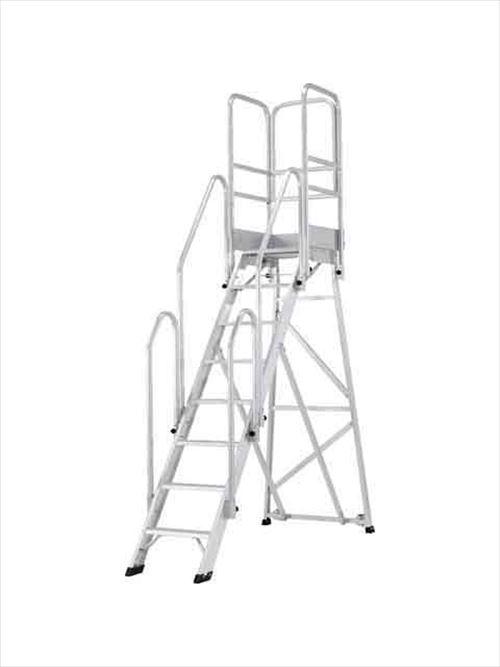 メーカー直送【法人様限定】 アルインコ(ALINCO)作業台 折りたたみ式作業台(背面キャスター、フル手すり標準装備) CSD-F 天板高さ2.00m [CSD-200F]