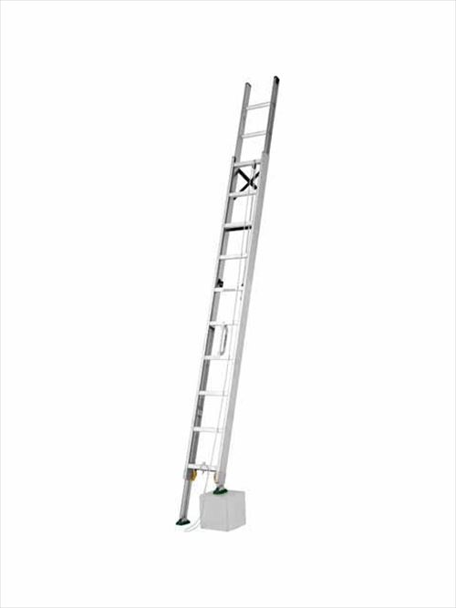 メーカー直送【法人様限定】 アルインコ(ALINCO)はしご 伸縮脚付2連はしご [MDE-57D] 全長 5.36?5.68m 詳細は商品説明をご確認ください