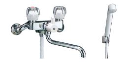 【LIXIL】【リクシル】シャワーバス水栓・シャワー専用水栓 浴槽・洗い場兼用2ハンドル[BF-615HN-G]【INAX】【イナックス】