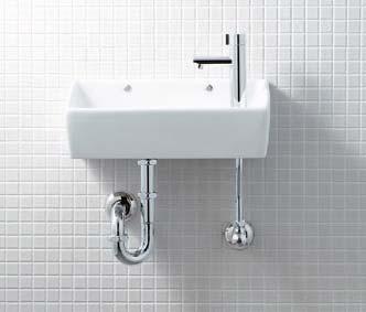 送料無料 【LIXIL】【リクシル】手洗器・洗面器 狭小手洗シリーズ手洗タイプ(角形) 狭小手洗器 床排水(Sトラップ)[L-A35HB]【INAX】【イナックス】