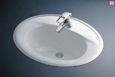 TOTO L525RCU#NW1 カウンター式洗面器はめ込楕円形洗面器(フレーム式)590×480実容量9.0L