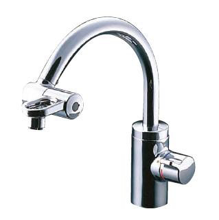 TOTO キッチン用水栓金具 ミキシング混合栓 グースネックタイプ先端開閉式タイプ(台付きタイプ)[TKF51PNZ]