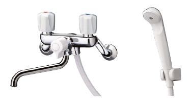 TOTO 浴室用水栓金具 2ハンドルシャワー金具(壁付きタイプ)[TMS25CU]