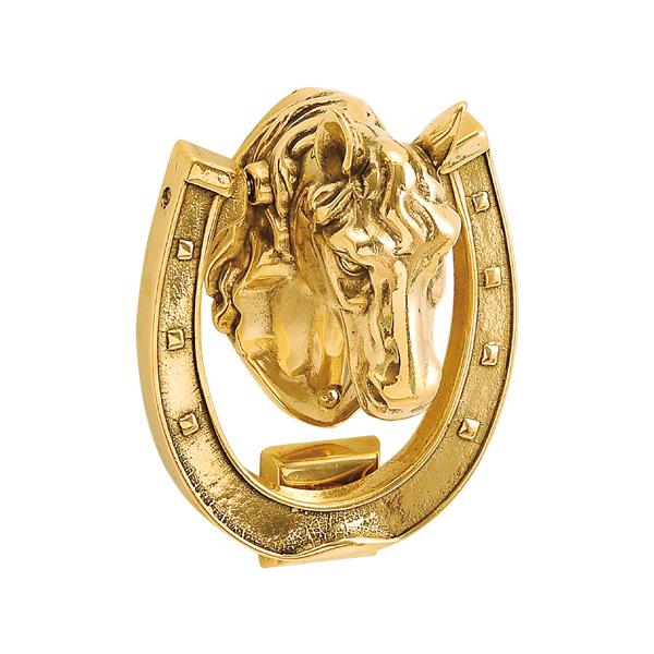 ゴーリキアイランド 真鍮 ドアノッカー 金色 ホース型【 アンティーク ブラス 雑貨】 [620828]