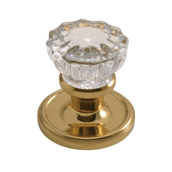 ゴーリキアイランド 真鍮 ドアノブ ガラス 金色 DN4 ロータスタイプ【 アンティーク ブラス 雑貨】 [620854]