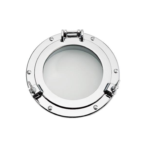 ゴーリキアイランド 真鍮 丸窓 銀色 B50 C型【 アンティーク ブラス 雑貨】 [620891]