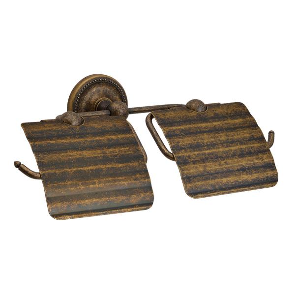 ゴーリキアイランド 真鍮 ペーパーホルダー(Polish Brassシリーズ)横2連 古色【 アンティーク ブラス 雑貨】 [640776]