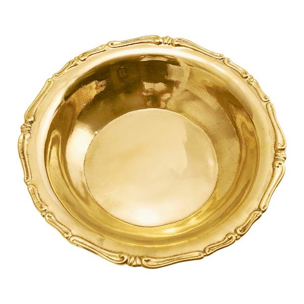 ゴーリキアイランド 真鍮 飾り皿 金色 7585型【 アンティーク ブラス 雑貨】 [660996]