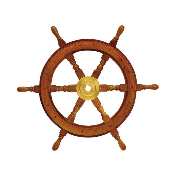 ゴーリキアイランド 真鍮 舵輪(船のハンドル) 金色 24型【 アンティーク ブラス 雑貨】 [690020]
