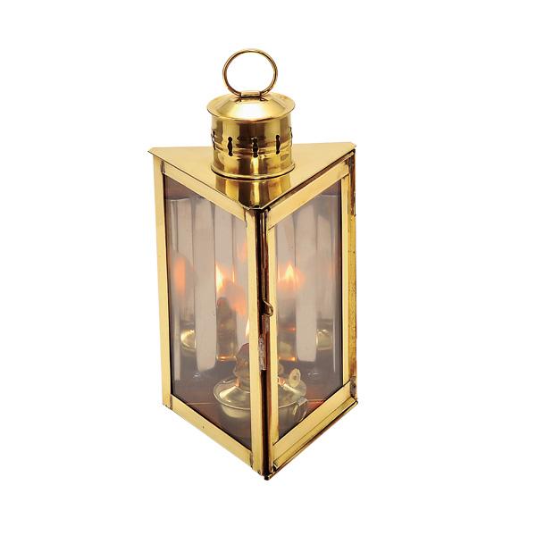 ゴーリキアイランド 真鍮 オイルランプ 金色 トライアングル型【 アンティーク ブラス 雑貨】 [700089]