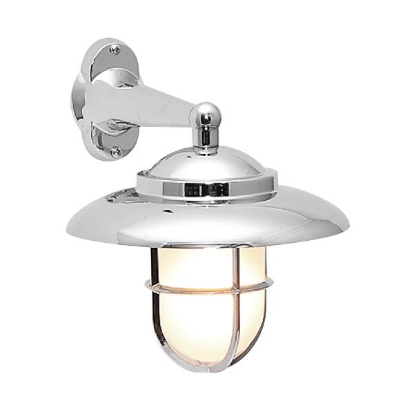 ゴーリキアイランド 真鍮 ブラケットランプ(くもりガラス&LEDランプ)BR2060 FR LE 銀色【 アンティーク ブラス 雑貨】 [700153]