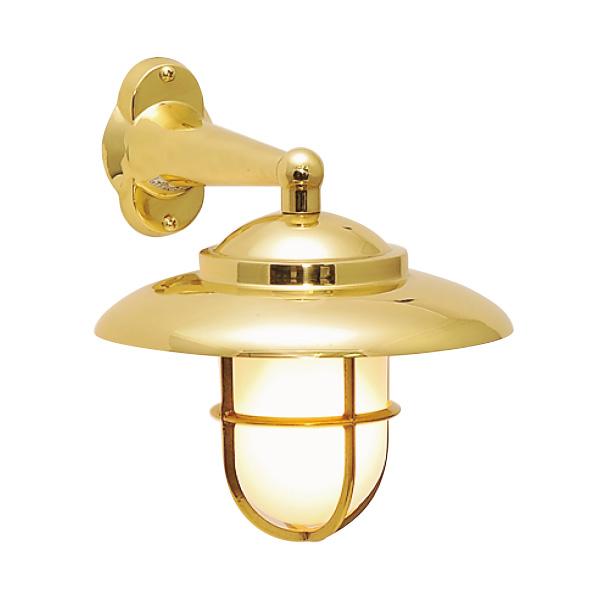 ゴーリキアイランド 真鍮 ブラケットランプ(くもりガラス&LEDランプ)BR2060 FR LE 金色【 アンティーク ブラス 雑貨】 [700164]