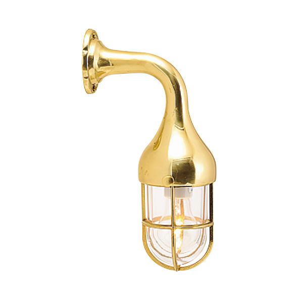 ゴーリキアイランド 真鍮 ブラケットランプ(クリアガラス&普通球)BR2075 CL 金色【 アンティーク ブラス 雑貨】 [700171]