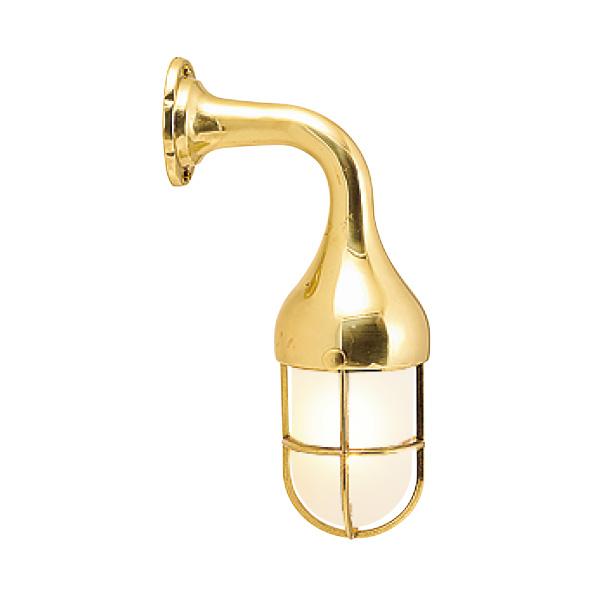 ゴーリキアイランド 真鍮 ブラケットランプ(くもりガラス&LEDランプ)BR2075 FR LE 金色【 アンティーク ブラス 雑貨】 [700180]