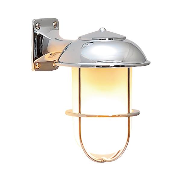 ゴーリキアイランド 真鍮 ブラケットランプ(くもりガラス&LEDランプ)BR5000 FR LE 銀色【 アンティーク ブラス 雑貨】 [700232]